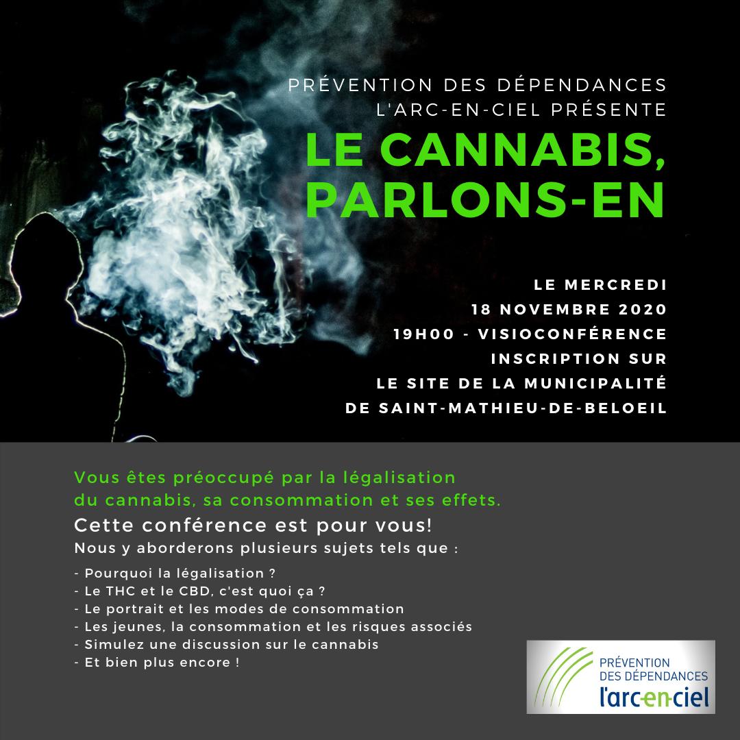 Conférence virtuelle gratuite LE CANNABIS, PARLONS-EN !