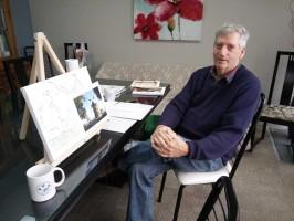 Activité collective en art thérapie avec la Société Alzheimer