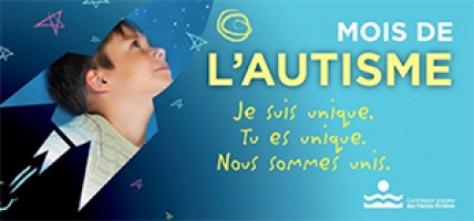 Avril, le mois de l'autisme est souligné à la Commission scolaire des Hautes-Rivières.